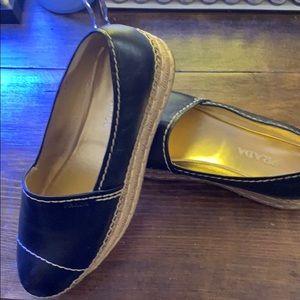 Black  Prada espadrille platform shoes
